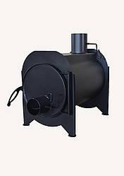 Буржуйка-булерьян длительного горения дрова 50 см с зольником и стальными косниками 4 мм отопительно варочная