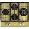 Красивая бежевая газовая поверхность: четыре конфорки, чугун, турбогорелка, газконтроль... Luxor RG 640 R CH