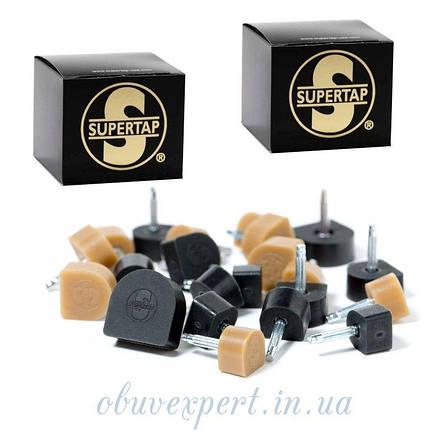 Набойка полиуретановая круглая Supertap штырь 3,1 мм, т. 6,5 мм, d 11 мм, черный США, фото 2