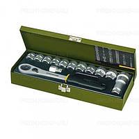 Набор головок с трещоткой из 14 позиций от 13 до 27 мм PROXXON №23 604