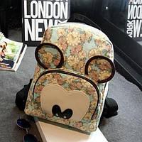Женский зеленый гордской рюкзак Микки Маус, фото 1