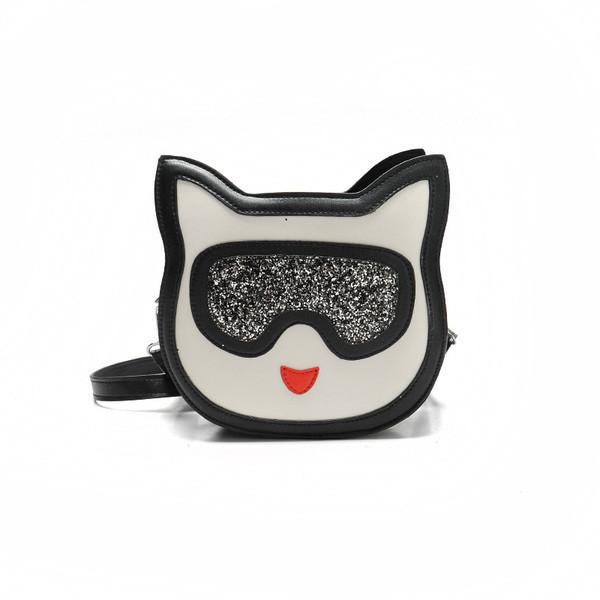Маленькая сумочка кроссбоди Котик в очках