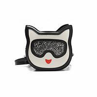 Маленькая сумочка кроссбоди Котик в очках, фото 1