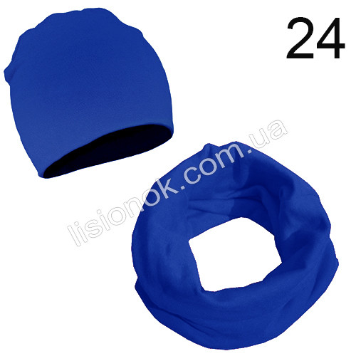 Синий набор детский шапка и хомут Bape