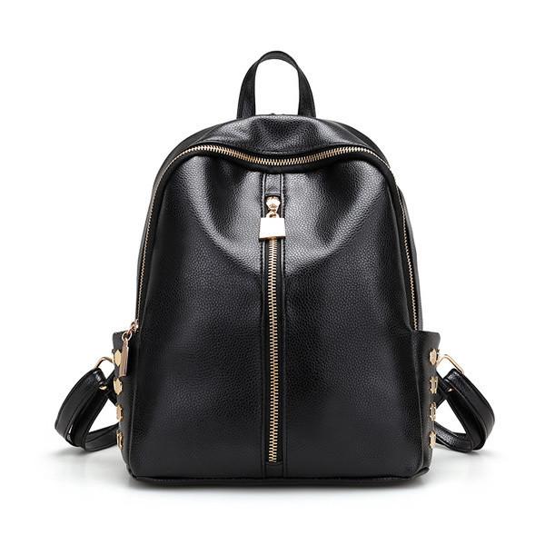 Черный женский рюкзак