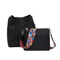 Черная вместительная женская сумка, фото 1