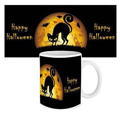Чашка Happy Halloween Кошка