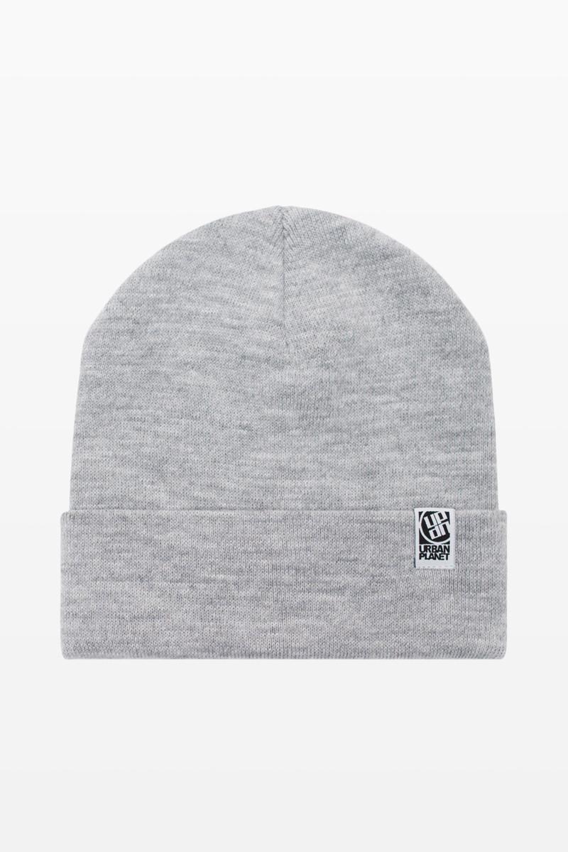 Шапка зимняя двойная Urban Planet СN14 MEL серая (теплая шапка, шапка мужская, шапка женская, шапочка)