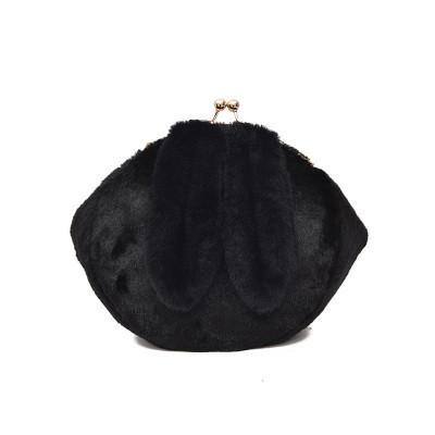 Черная сумочка-клатч с ушками