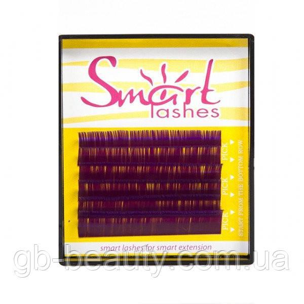 Ресницы на ленте фиолетовые SMART 0,07 D 9 (6 линий)