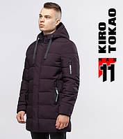 11 Kiro Tokao | Мужская зимняя куртка длинная 6007 бордовый