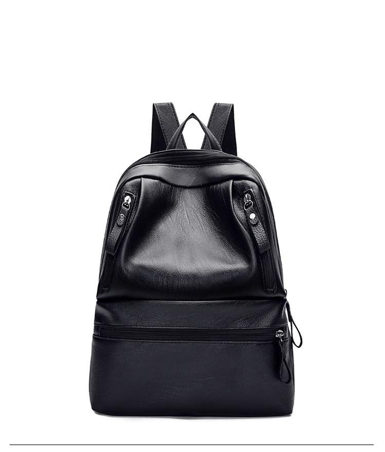 Рюкзак черный с карманами