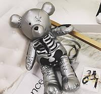 Серебристый рюкзак Мишка Скелетон, фото 1