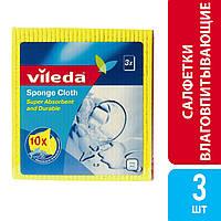 Салфетки влаговпитывающие Sponge Cloth, Vileda, 3 шт.