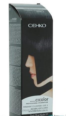 Стойкая крем-краска для волос C:EHKO C:COLOR тон 11 Синяя ночь