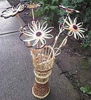 Ваза плетеная с цветами, фото 1