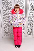 Комплект-комбинезон зимний для девочки, фото 1