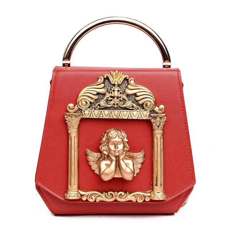 Красная сумка с ангелком