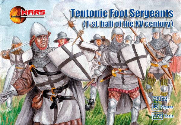 TEUTONIC FOOT SERGEANTS. 1/72 MARS 72052, фото 2