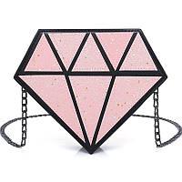 Розовая сумка Кристалл глиттер