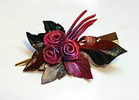 Зажим для волос, пурпурные розы, фото 1