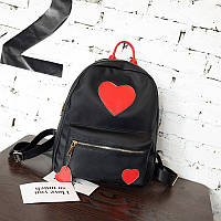 Черный рюкзак Сердца, фото 1