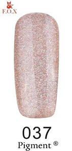 Гель-лак F.O.X. 6 мл Pigment 037 шампань с голографическим блеском, эмаль