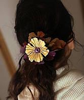 Зажим для волос, с желто-пурпурным цветком, фото 1