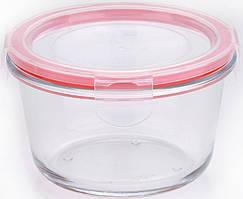 Контейнер стеклянный Bergner Glass Box Red 500мл с пластиковой крышкой