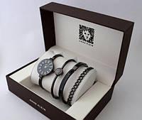 Женские наручные часы Anne Klein. Подарочный набор.(Цвет белый и черный) + Подарок