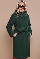 Пальто П-302-100 зм. Цвет: 1225 темно-зеленый ЗИМА размерс 44 (гм)