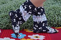 Модные черные сапоги Кошечки с открытым носком в наличии размер 39. Арт-0159, фото 1