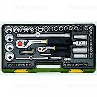 Полный комплект дюймового инструмента с флажковыми трещотками из 65 позиций на 1/4 и 1/2 PROXXON №23 294
