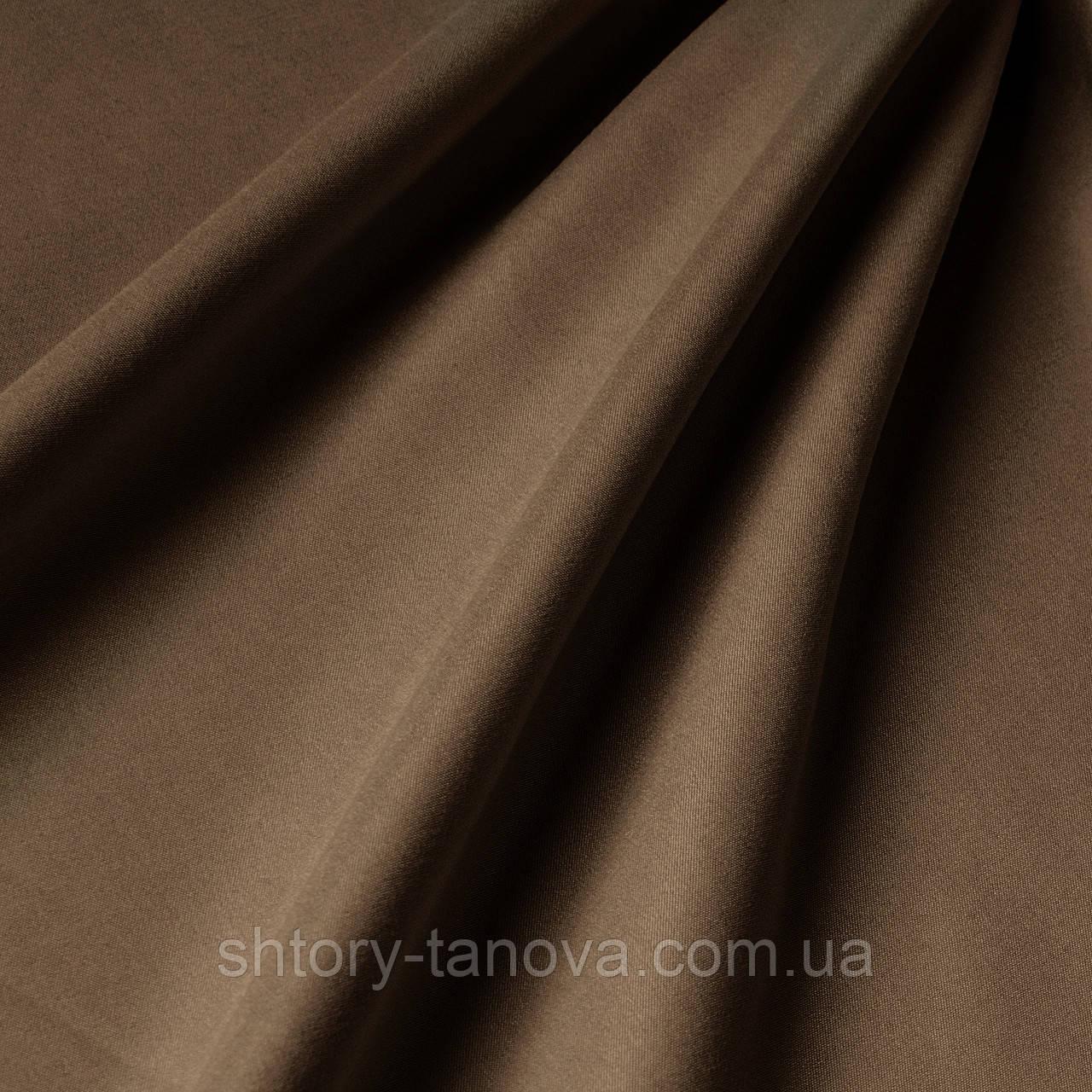 Подкладочная ткань цвета какао с матовой фактурой