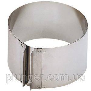 Форма для выпечки и формовки металлическая раздвижная Круг, высота 20 см