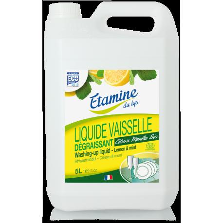"""Органічний засіб для миття посуду """"Лимон і м'ята"""",5 л"""