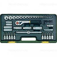 Компактный набор инструмента со средней флажковой трещоткой на 3/8 PROXXON №23 282