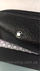 Ключница черная  кожаная MontBlanc, фото 3