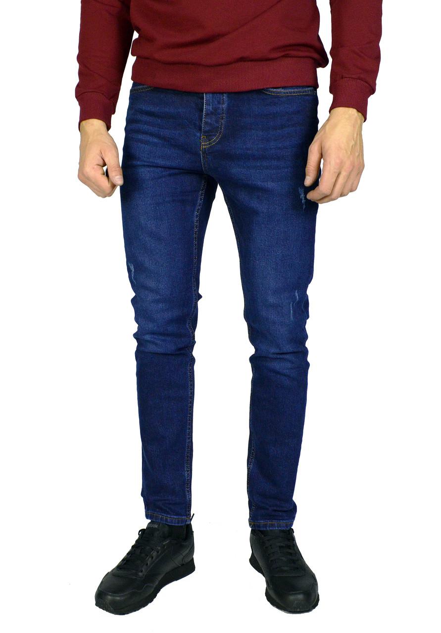 Синие мужские джинсы зауженные TRIPTONIC DENIM