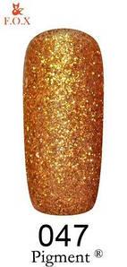 Гель-лак F.O.X. 6 мл Pigment 047 золото Скифии, эмаль