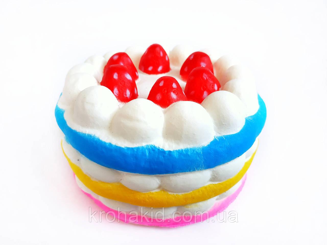 Сквиш Тортик / Торт с малиной / Squishy / Сквуши/ Игрушка-антистересс