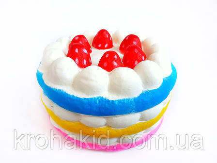 Сквиш Тортик / Торт с малиной / Squishy / Сквуши/ Игрушка-антистересс, фото 2