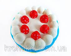 Сквиш Тортик / Торт с малиной / Squishy / Сквуши/ Игрушка-антистересс, фото 3