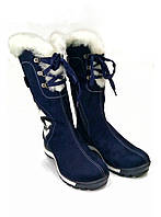 Сапоги замшевые зима  МИДА 24411