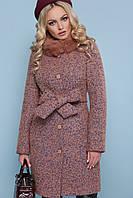 Пальто П-302-бм. Цвет: 1208 розовый ЗИМА размерс 42 по 48(гм)