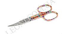Маникюрные ногтевые ножницы KDS 01-3252 цветной квадрат