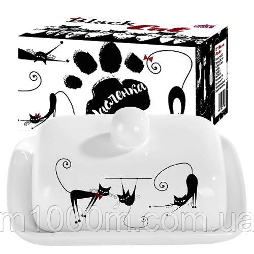 Масленка керамическая Черная кошка 3397-12