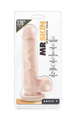 Фаллоимитатор Mr. Skin Realistic Cock Stud Basic 7, телесный, фото 2