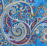 Встреча 1718-11, павлопосадский платок хлопковый (батистовый) с швом зиг-заг, фото 3