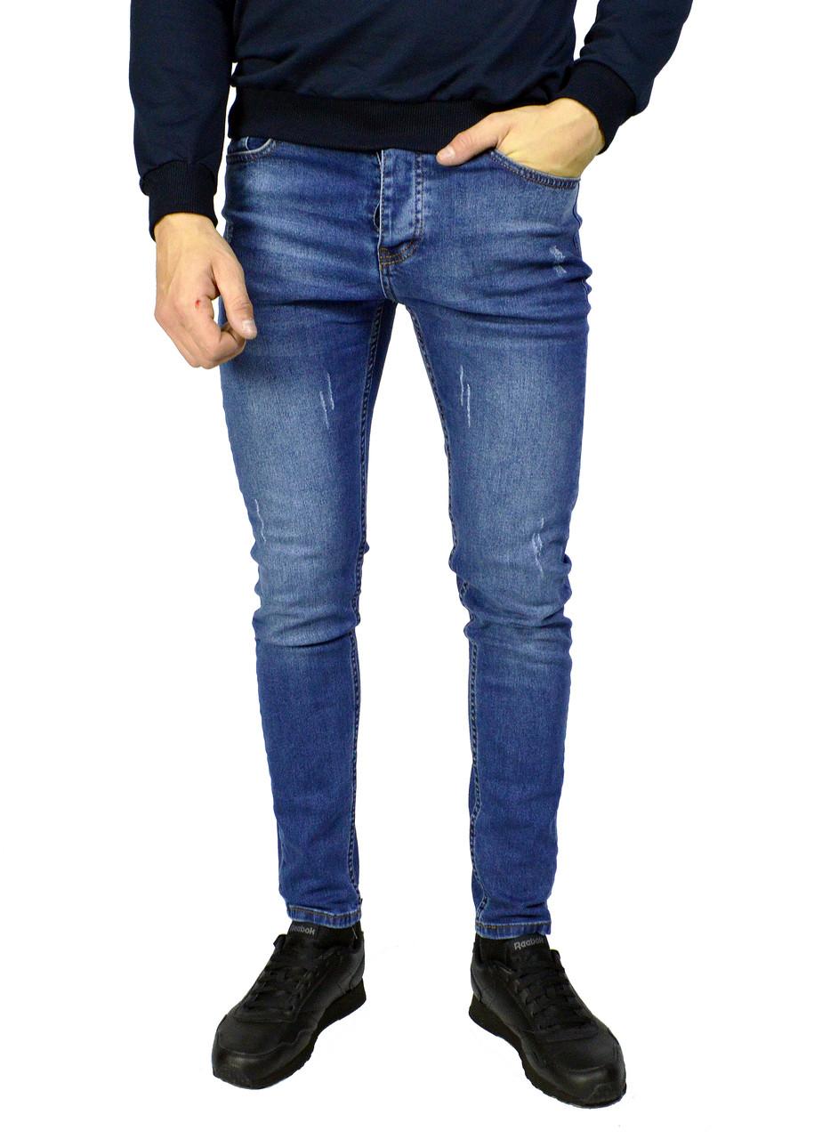 Cиние мужские джинсы зауженные ARMANI JEANS